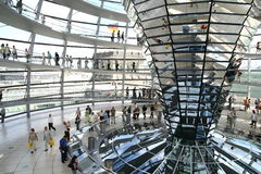 Dome of German Parliament in Berlin. Inside the dome of Reichstag building in Berlin in Germany Royalty Free Stock Photo