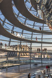 The inside of the dome of the Reichstag building. Stock Images