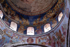 Inside Dome of Saint Sophia. Cathedral Aya Sophia in Trabzon, Turkey Royalty Free Stock Images
