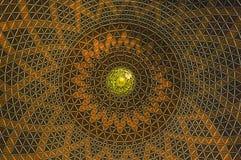 Inside dome of Sultan Salahuddin Abdul Aziz Shah Mosque a.k.a Shah Alam Mosque Stock Photography