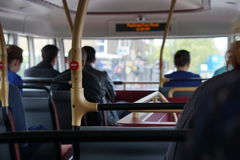 Inside a double deck bus. In london, England Stock Image