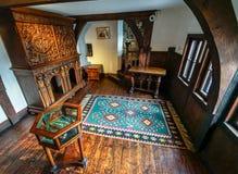 Inside Dracula kasztel przy otręby zdjęcia stock