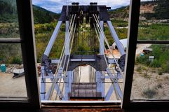 Inside Dredge No. 4 near Dawson City, Yukon. Dredge No. 4 stands 18 meters high amid the rough and rugged Klondike Gold Fields royalty free stock images