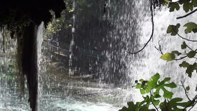 Inside Duden waterfalls at Antalya province in Turkey Royalty Free Stock Photos