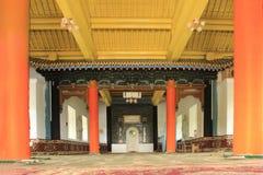 Inside of Dungan mosque in Karakol city, Kyrgyzstan Stock Image