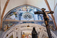 Inside of Duomo Cathedral in Verona city Royalty Free Stock Image