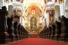 Inside Durnstein Abbey (Stift Durnstein), Austria Stock Photos