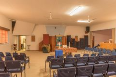 Inside of the Dutch Reformed Church in Henties Bay Royalty Free Stock Photos