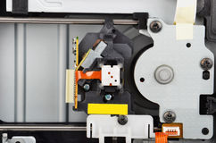 Inside DVD disk drive Royalty Free Stock Photos