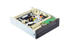 Inside DVD disk drive Stock Image