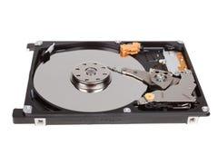 Inside dysk twardy przejażdżka HDD odizolowywający na białym tle obrazy royalty free