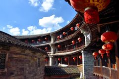 Inside of Earth Castle, South of China Royalty Free Stock Photography