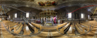 Inside an Eastern Orthodox Church Stock Photography