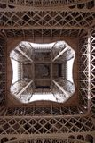 Inside of the Eiffel Tower Royalty Free Stock Image
