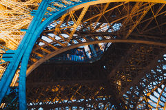 Inside of the Eiffel Tower Royalty Free Stock Photos