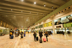 Inside the El Prat airport, Barcelona Royalty Free Stock Image