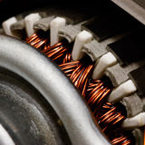 Inside electric motor Royalty Free Stock Images