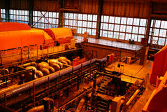 Inside of electrical power plant Stock Photography