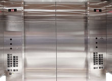 Inside elevator lift royalty free stock images