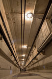 Inside elevator shaft. Lift top view Royalty Free Stock Images
