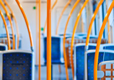 Inside empty  metro carriage Stock Photography