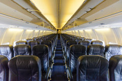 Inside an empty plane Royalty Free Stock Image