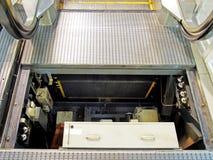 Inside eskalator Obraz Stock