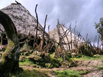 Inside Etiopska górska wioska Obraz Royalty Free