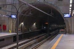 Inside the Eucalipto brand new subway station stock image