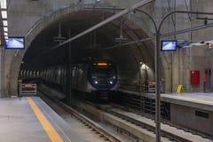 Inside the Eucalipto brand new subway station royalty free stock image