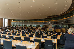 Inside the European Parliament Royalty Free Stock Images