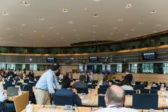 Inside the European Parliament Stock Image