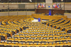 Inside of the European Parliament Royalty Free Stock Image