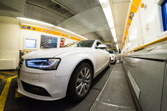 Inside EuroTunnel carriage Royalty Free Stock Photography