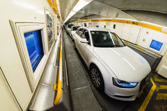 Inside EuroTunnel carriage Royalty Free Stock Images