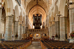 Inside Exeter Cathedral Royalty Free Stock Photo