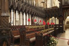 Inside the Exeter cathedral Royalty Free Stock Images