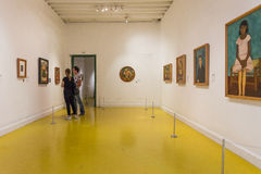Inside of the Exhibition of the Frida Kahlo Museums Collection Stock Images