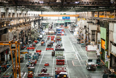 Inside of factory stock photography