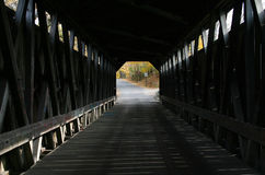 Inside Fallasburg Covered Bridge stock photo