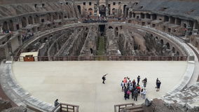 Inside of famous Colosseum Stock Image