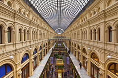 Inside the famous GUM department store in Moscow. Royalty Free Stock Image