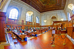 Inside famous old New York Public Royalty Free Stock Images