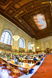 Inside famous old New York Public Stock Photo
