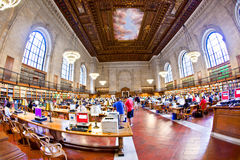 Inside famous old New York Public Stock Photography