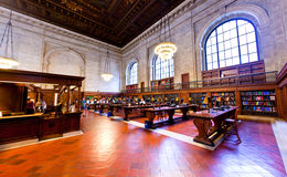 Inside famous old New York Public Royalty Free Stock Image