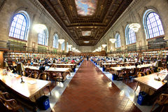 Inside famous old New York Public Stock Image