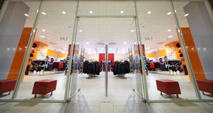 Inside fashion store of sport wear Stock Image