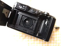 Inside film`s camera royalty free stock image