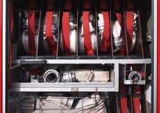Inside of a fire truck Stock Photos